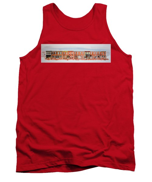 A Bit Of Scott Street  7x30 Tank Top by William Renzulli