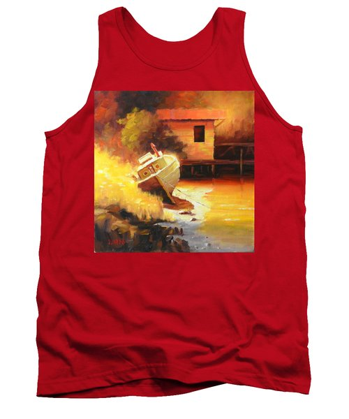 A Boat In A Sunny Day Tank Top