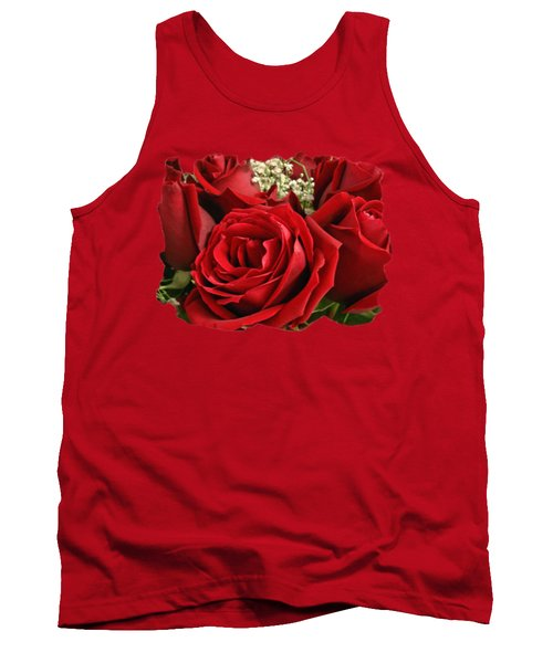 A Bouquet Of Red Roses Tank Top