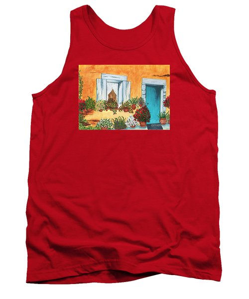 Tank Top featuring the painting A Cottage In The Village by Patricia Griffin Brett