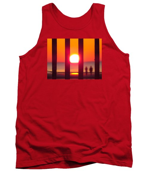 Tank Top featuring the photograph A Couple's Sunrise by Nikki McInnes