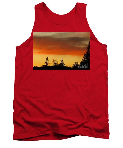 Tank Top featuring the photograph A Distant Rain by CML Brown