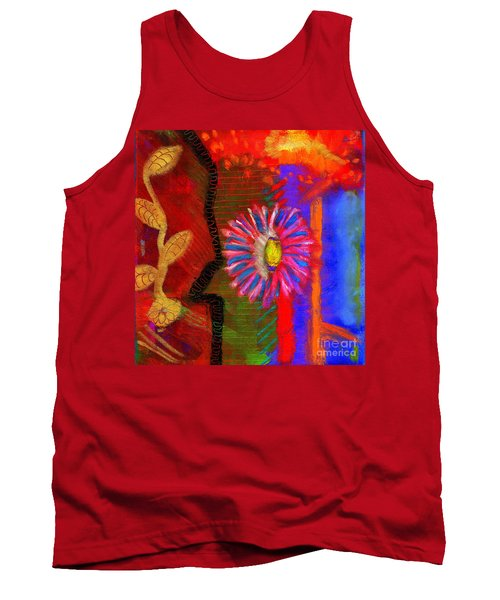 Tank Top featuring the painting A Flower For You by Angela L Walker
