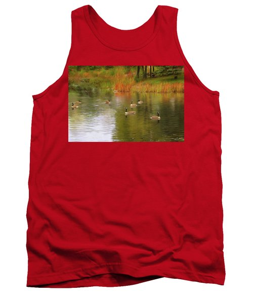 A Gaggle Of Geese Tank Top