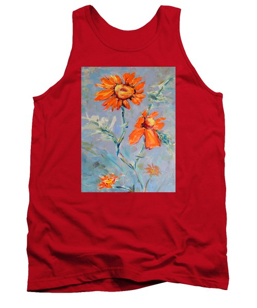 Tank Top featuring the painting A Glow by Mary Schiros