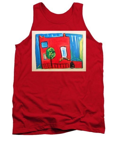 Tank Top featuring the painting A House With A Smile To Give by Mary Carol Williams