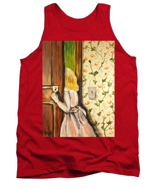 Tank Top featuring the painting A Journey Begins by Maria Langgle