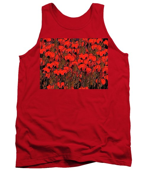 A Little Family Gathering Of Poppies Tank Top