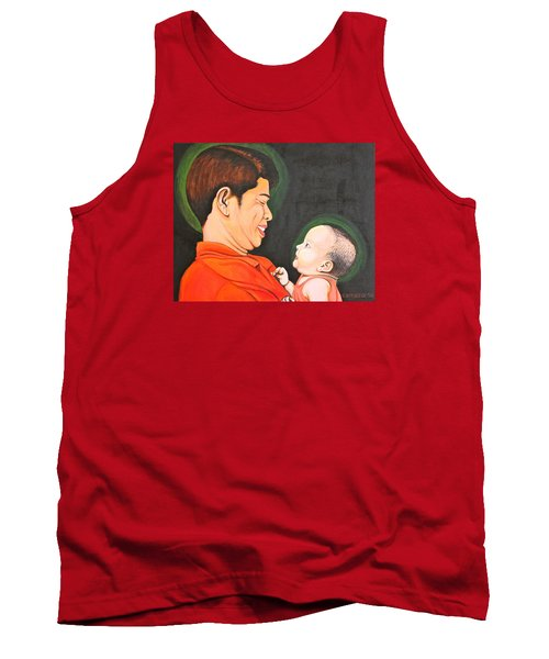 A Moment With Dad Tank Top by Cyril Maza