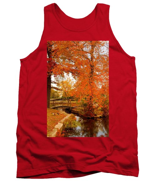 A Morning In Autumn - Lake Carasaljo Tank Top