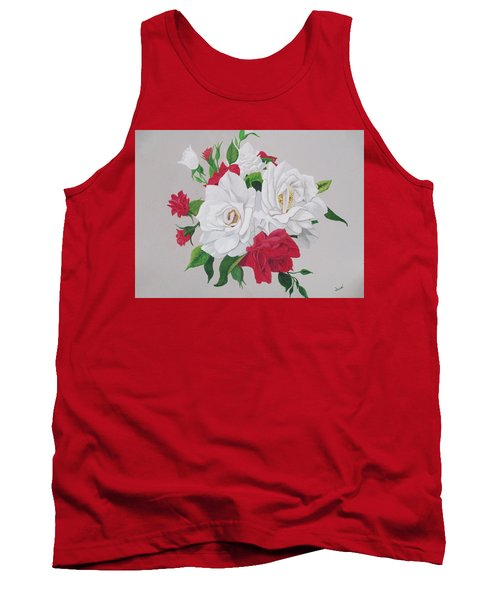 A New Rose Bouquet Tank Top by Hilda and Jose Garrancho