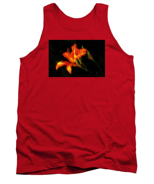 Tank Top featuring the digital art A Painted Lily by Cameron Wood