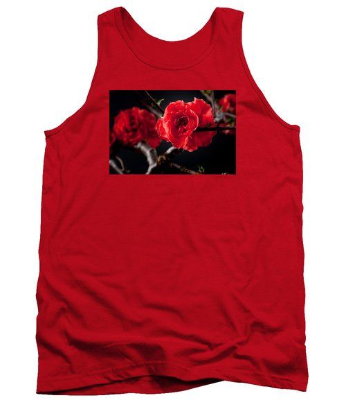 A Red Flower Tank Top by Catherine Lau