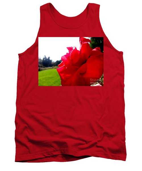 Tank Top featuring the photograph A Rose In The Sun by Robert Knight