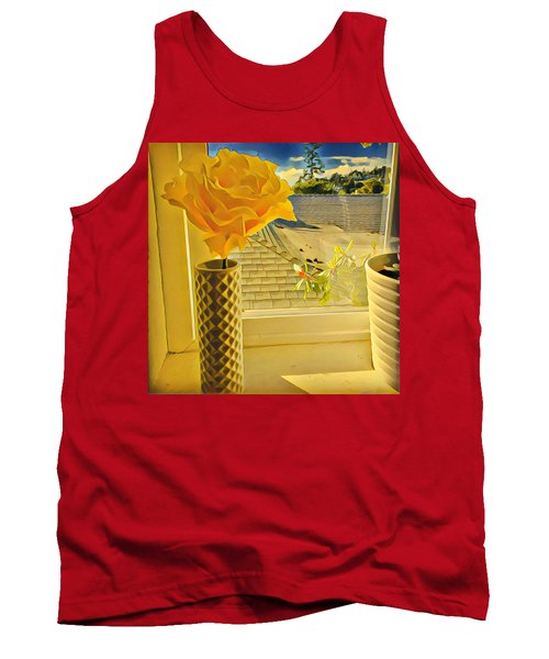 A Rose Is A Rose Electric Tank Top