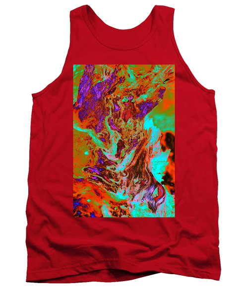 A Splash Of Color In The Weeds Tank Top