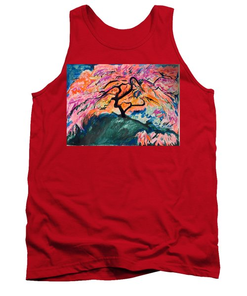 A Splendid Japanese Maple Tree Tank Top by Esther Newman-Cohen