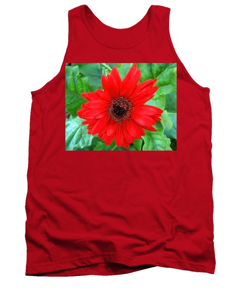 Tank Top featuring the photograph A True Red by Sandi OReilly