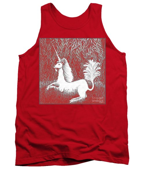 A Unicorn In Moonlight Tapestry Tank Top