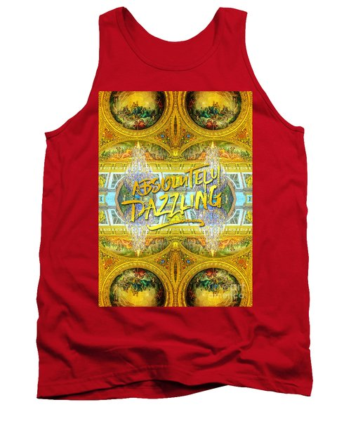 Absolutely Dazzling Hall Of Mirrors Versailles Palace Paris Tank Top