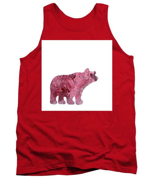 Abstract Acrylic Painting Bear Tank Top by Saribelle Rodriguez
