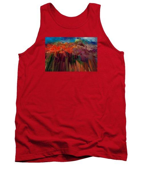 Abstract Autumn Tank Top by Lisa Kaiser