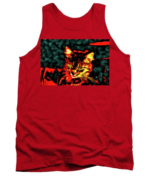 Abstract Cat Tank Top