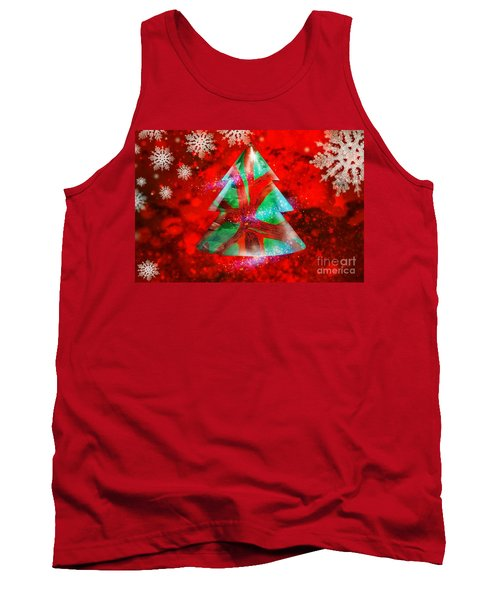 Abstract Christmas Bright Tank Top