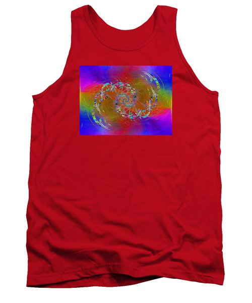 Tank Top featuring the digital art Abstract Cubed 351 by Tim Allen