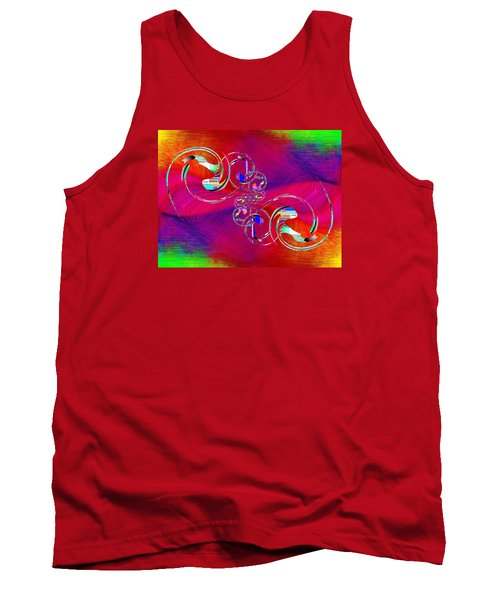 Tank Top featuring the digital art Abstract Cubed 360 by Tim Allen