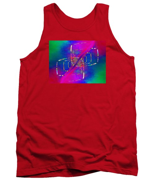 Tank Top featuring the digital art Abstract Cubed 363 by Tim Allen