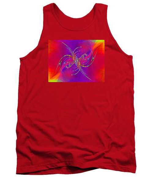 Tank Top featuring the digital art Abstract Cubed 365 by Tim Allen