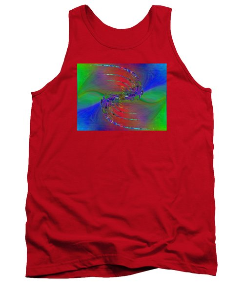 Tank Top featuring the digital art Abstract Cubed 384 by Tim Allen