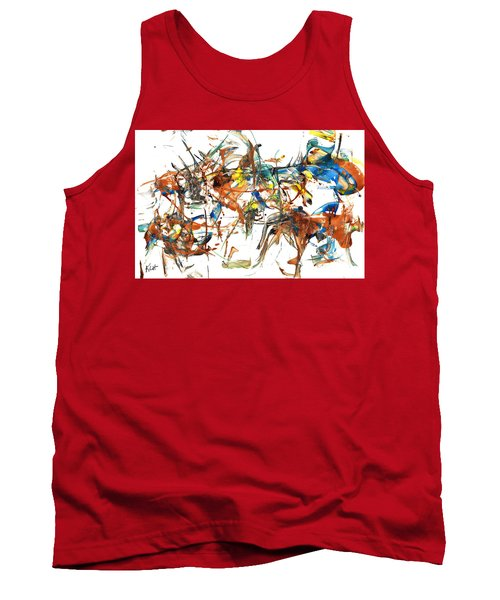Tank Top featuring the painting Abstract Expressionism Painting Series 1041.050812 by Kris Haas