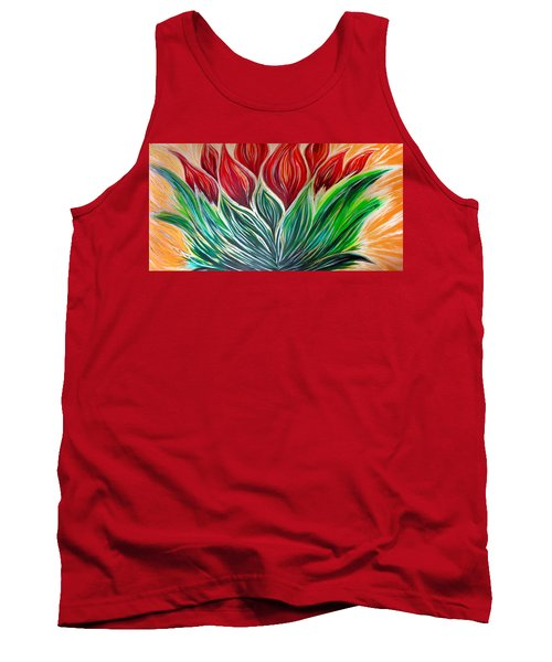 Abstract Lotus Tank Top