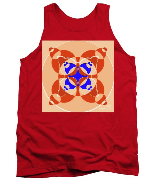 Abstract Mandala Pink, Orange And Blue Pattern For Home Decoration Tank Top