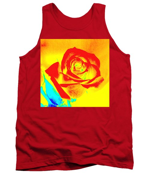 Single Orange Rose Abstract Tank Top