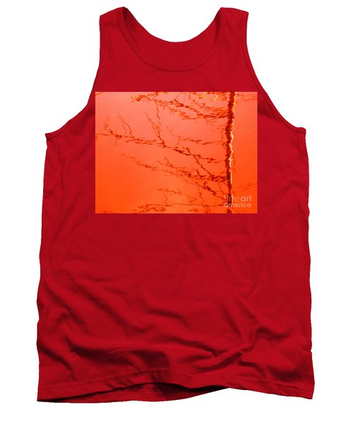 Abstract Orange Tank Top