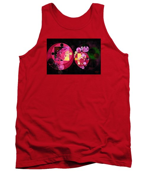 Abstract Painting - Deep Carmine Tank Top
