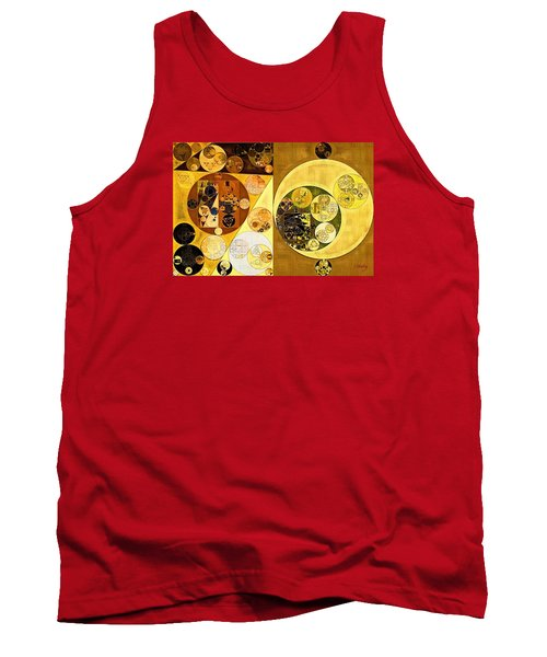 Tank Top featuring the digital art Abstract Painting - Golden Brown by Vitaliy Gladkiy