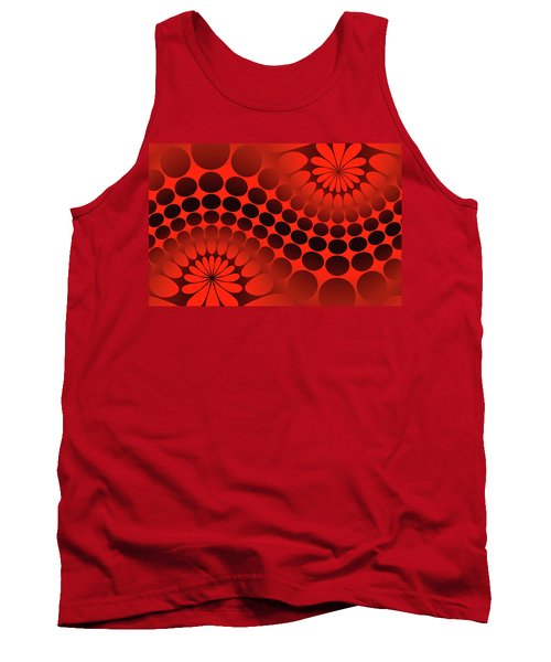 Abstract Red And Black Ornament Tank Top