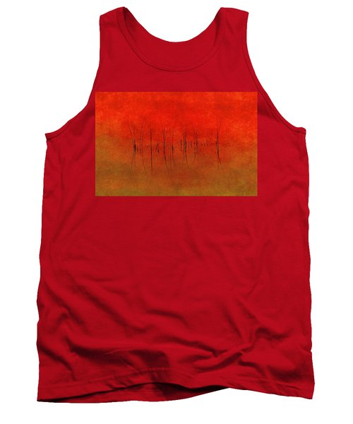 Tank Top featuring the photograph Abstract Sunset  by Andrea Kollo