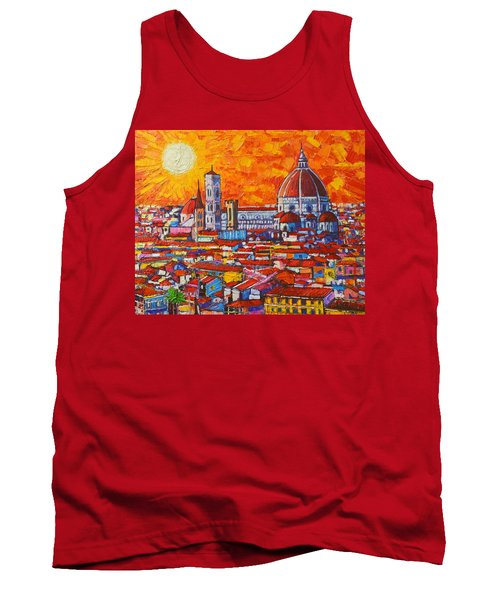Abstract Sunset Over Duomo In Florence Italy Tank Top by Ana Maria Edulescu