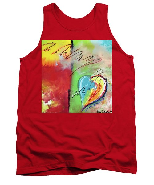 Abstract With Heart Tank Top