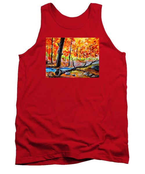 Fire In The Forest Tank Top
