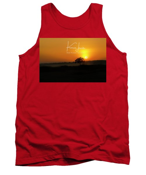 Tank Top featuring the photograph Acacia Tree Sunrise by Karen Lewis