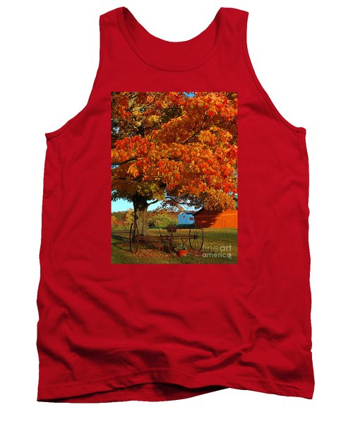 Tank Top featuring the photograph Adirondack Autumn Color by Diane E Berry