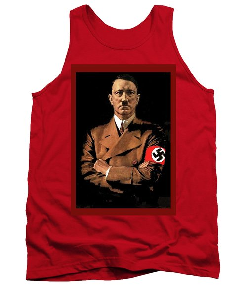 Adolf Hitler Painting Circa  1940 Color Added 2016 Tank Top