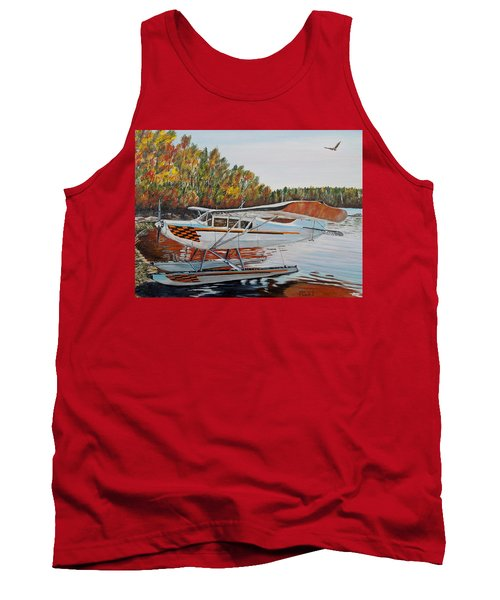 Tank Top featuring the painting Aeronca Super Chief 0290 by Marilyn  McNish