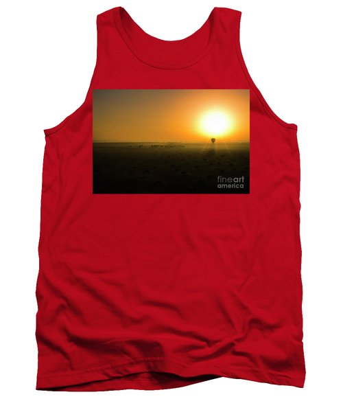 Tank Top featuring the photograph African Balloon Sunrise by Karen Lewis
